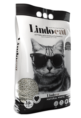 Lindo Cat Natural White paakkuuntuva kissanhiekka 15 l.