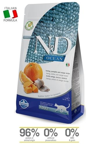 N&D Cat Adult Ocean Herring-Pumpkin cat food