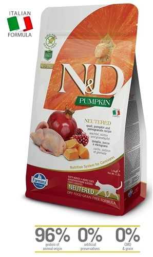 N&D Cat Neutered Quail-Pumpkin cat food