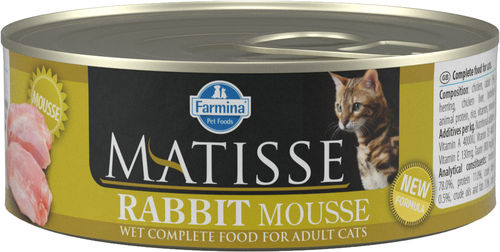 Matisse Rabbit Mousse cat food (can)