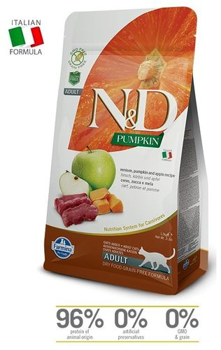 N&D Cat Adult Venison-Pumpkin cat food
