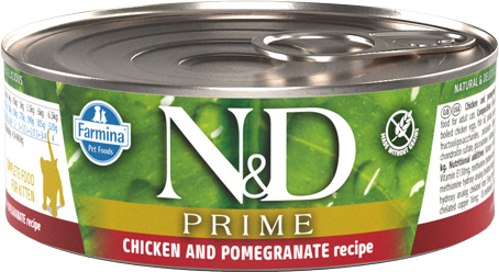 N&D Prime Cat Chicken & Pomegranate kissan täysravinto (säilyke)