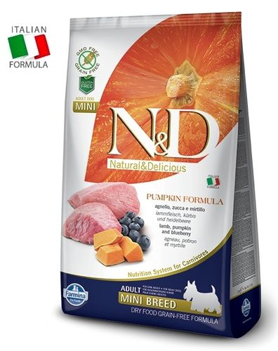 N&D Lamb, Pumpkin & Blueberry adult dog food