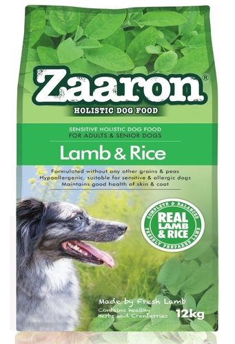 Zaaron Sensitive Holistic Lamb & Rice adult dog food