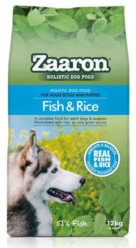 Zaaron Holistic Fish & Rice ALS dog food